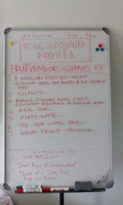 FV Tracklist on Whiteboard