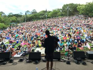 My view from the stage at Kirstenbosch
